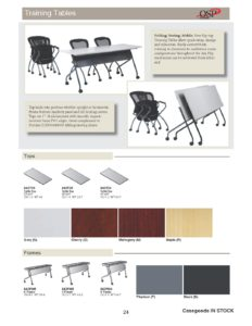 Nesting Training Tables Brochure