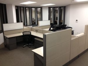 Cubicle with Chair