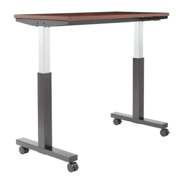Pneumatic Sit Stand Height Adjustable Table - Up