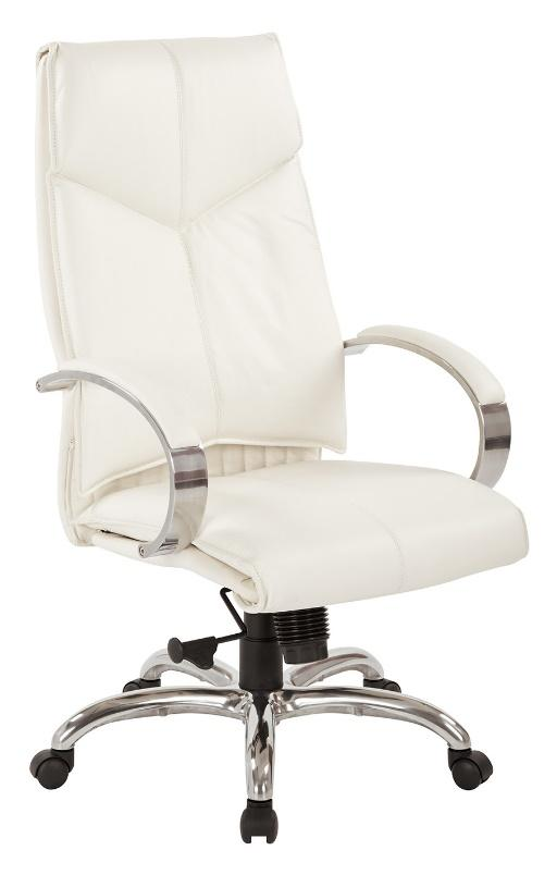 Proline High-back Leather Chair - White