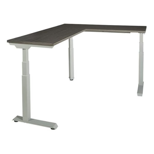 Electric Height Adjustable Desk L Shaped White