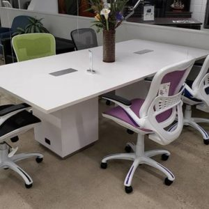 Tuxedo Conference Table - White