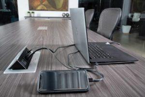 Tuxedo Table Power Grommets