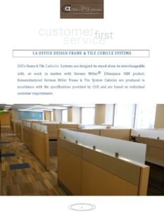 Frame and Tile Cubicle Systems
