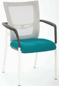 Pro-Grid White Mesh Mid Back Visitors Chair