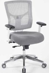 Pro-Grid White Mesh Mid Back Chair
